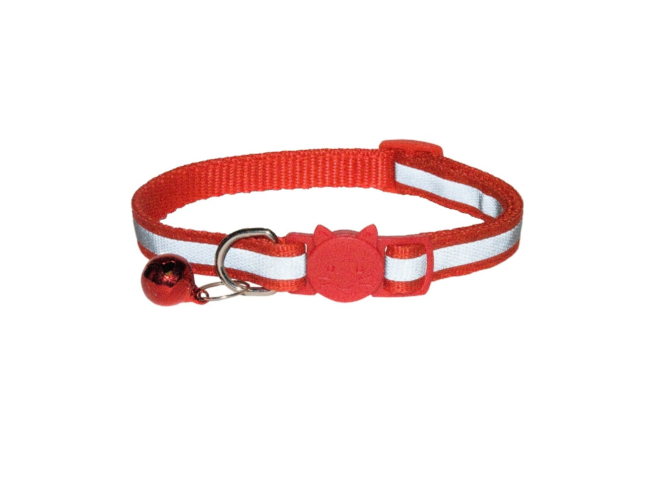Cat Collar Reflective Red
