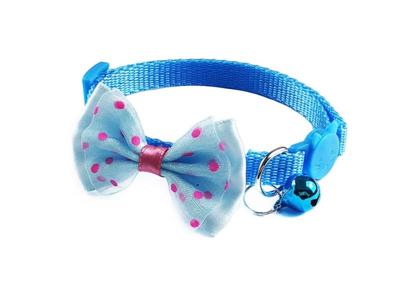 Bow Style Cat Collar, Blue (Single Pack)