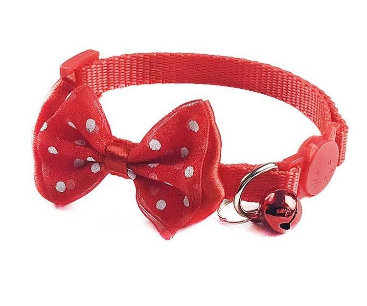 Cat Collar Bow Red