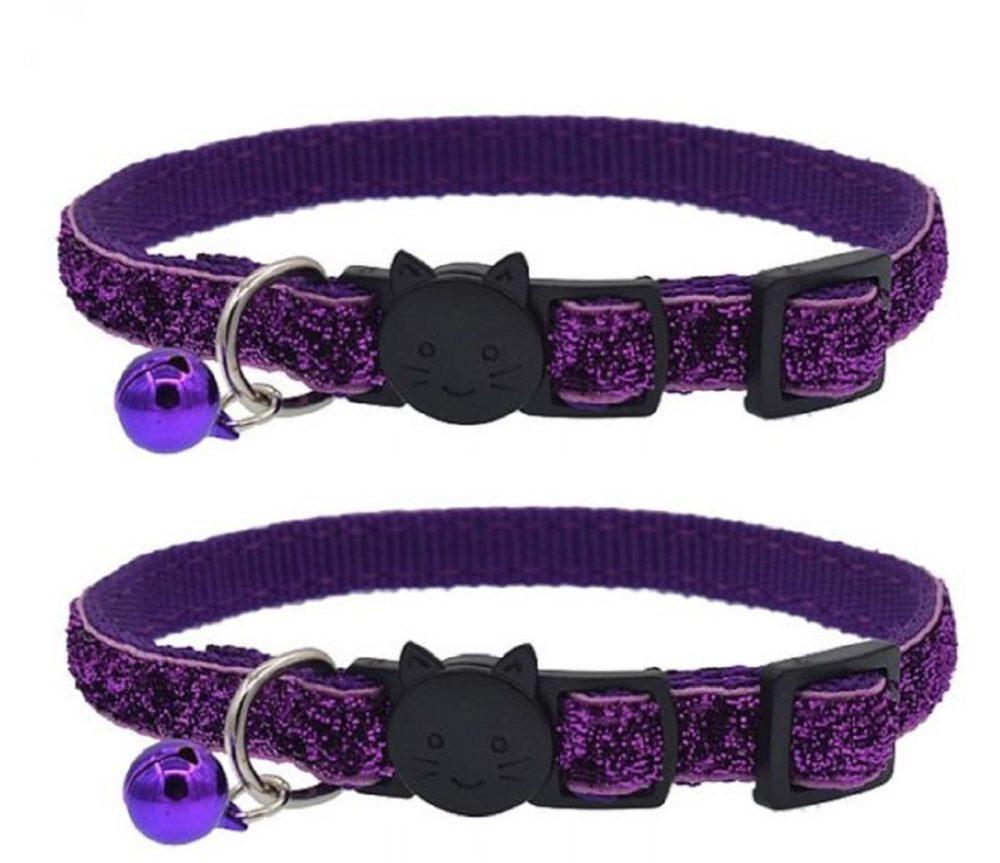 Glitter-Cat-Collar-Purple