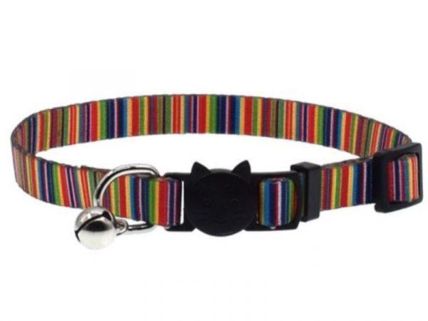Rainbow Stripe Cat Collar