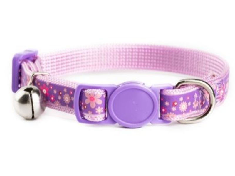 Purple with Flower Kitten Collar