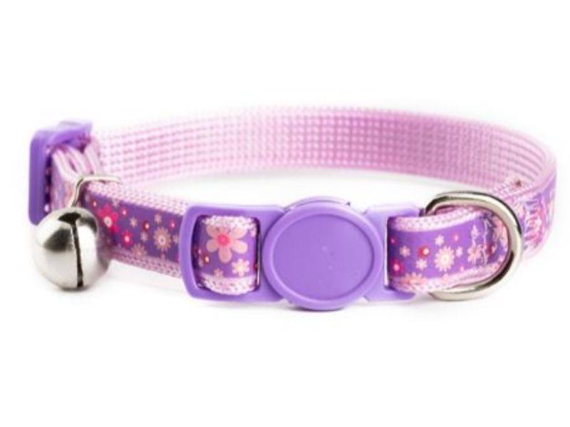 Purple with Flower Kitten Collar