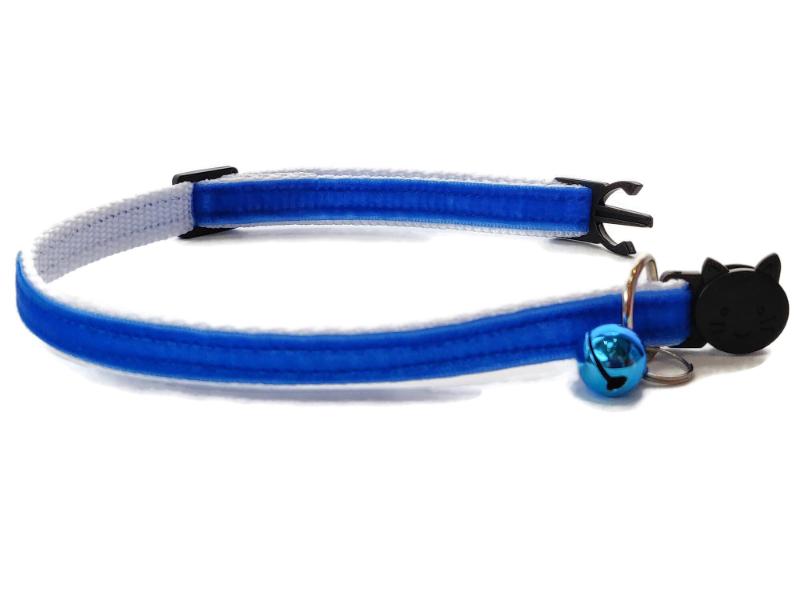 Blue Velvet Cat Collar (Single Sided Velvet)