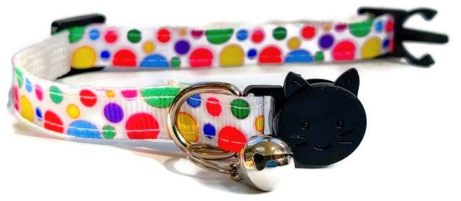 Multi Colour Polka Dot Collar