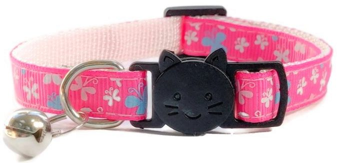 Pink with Butterflies Collar