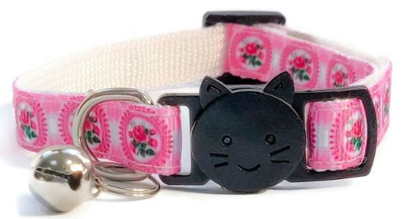 Pink with Roses Print Collar
