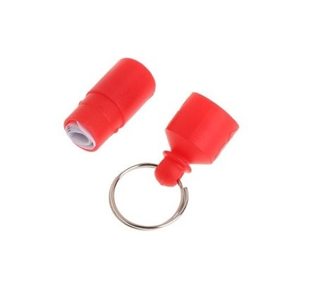 Pet ID Tag, Barrel Style – Red
