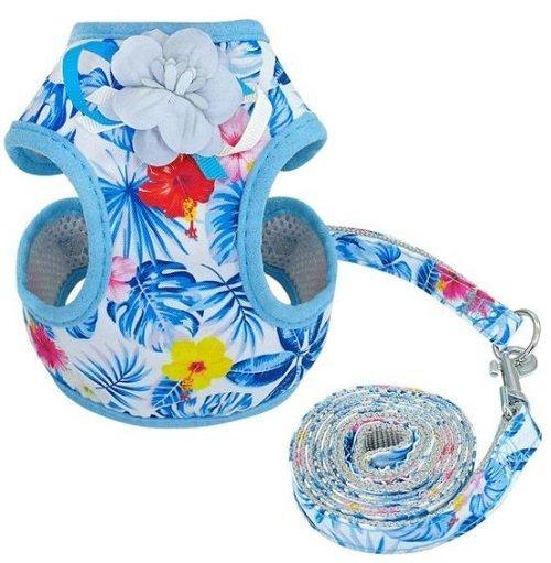 Cat Harness – Blue Floral