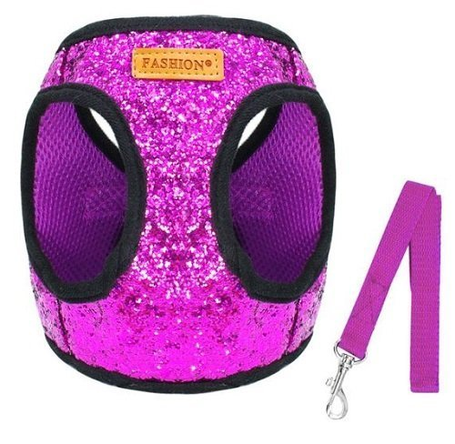 Cat Harness – Pink Sparkle Glitter