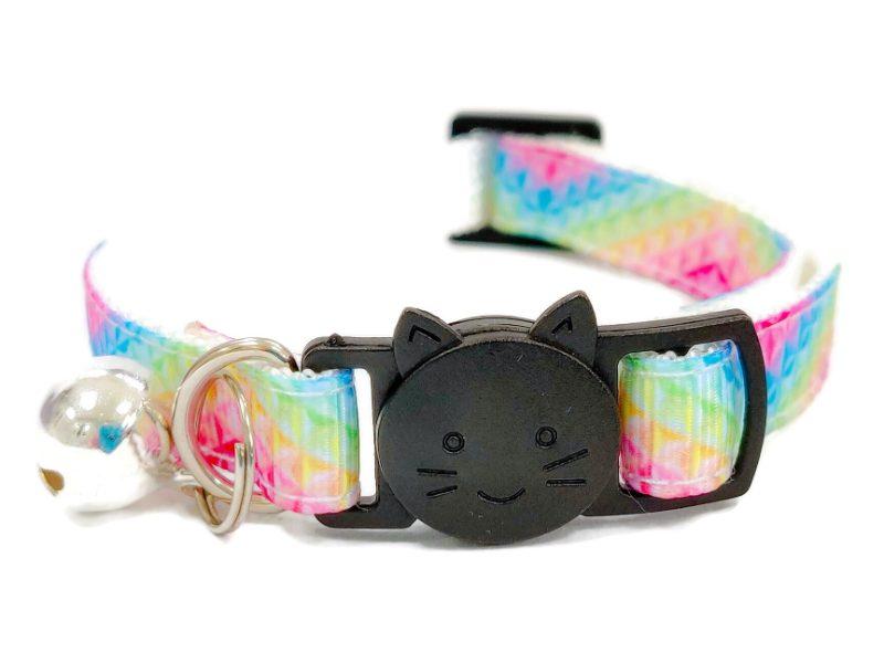 Pink, Blue & Yellow Multi Cat Collar