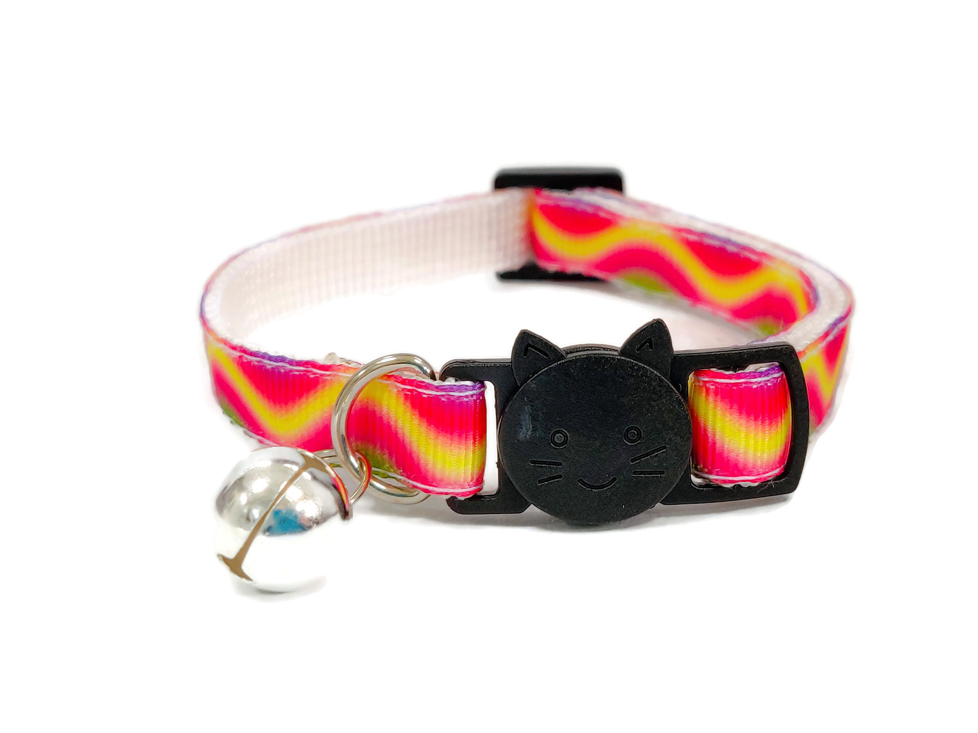Red, Yellow & Green Multi Cat Collar