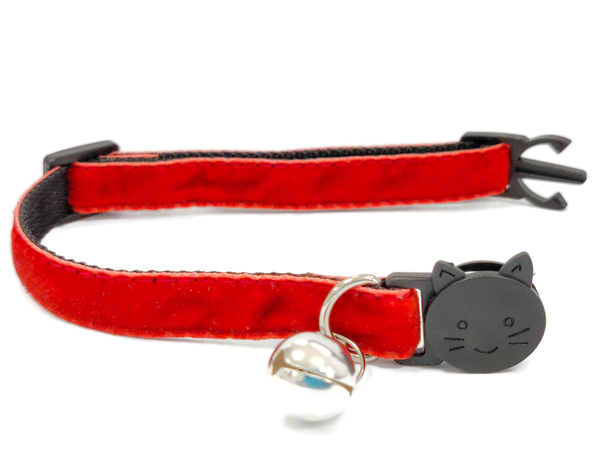 Rusty Red Soft Velvet Cat Collar