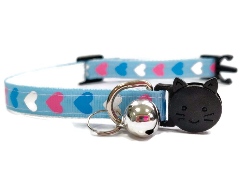 Blue with Pink/White/Blue Hearts