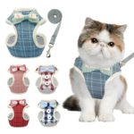 Cat Harness – Blue with Bow Tie