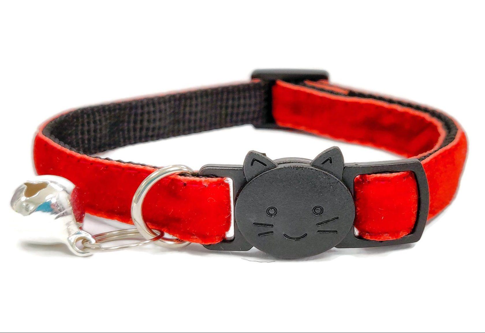 Rusty Red Soft Velvet Cat Collar