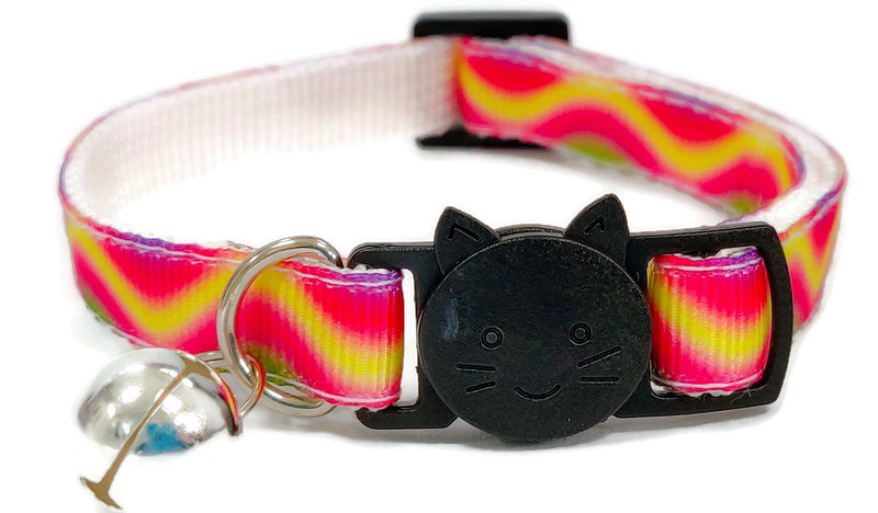 Red, Yellow & Green Multi Cat Collar