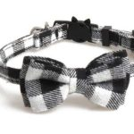 Luxury Black and White Chequered Cat Collar