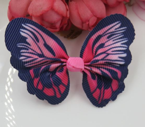 Cat / Kitten Collar Butterfly Accessory (Navy Blue & Red)