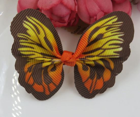 Cat / Kitten Collar Butterfly Accessory (Orange)