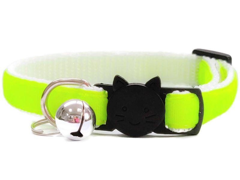 Neon Green Velvet Cat Collar (Single Sided)