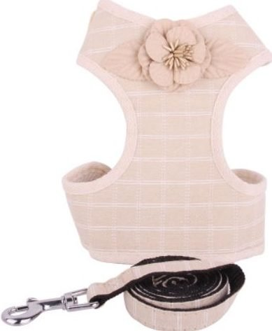 Cat Harness – Beige with Flower