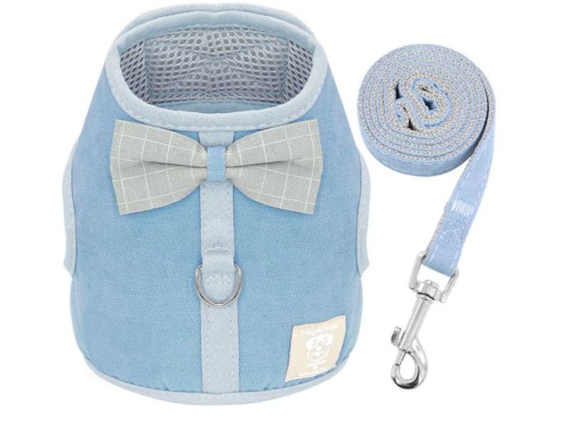 Light Blue Luxury Soft Mesh Cat Harness