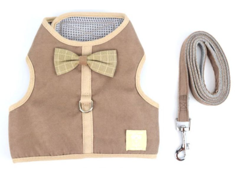 Brown Luxury Soft Mesh Cat Harness
