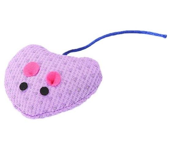 Lilac Heart Shape Mouse – Soft Plush Ca...