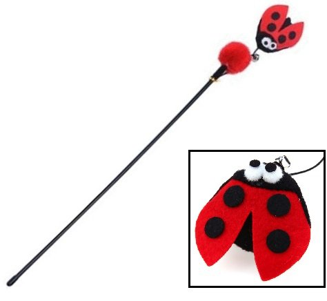 Red Ladybird Cat Toy – Cat Wands &...