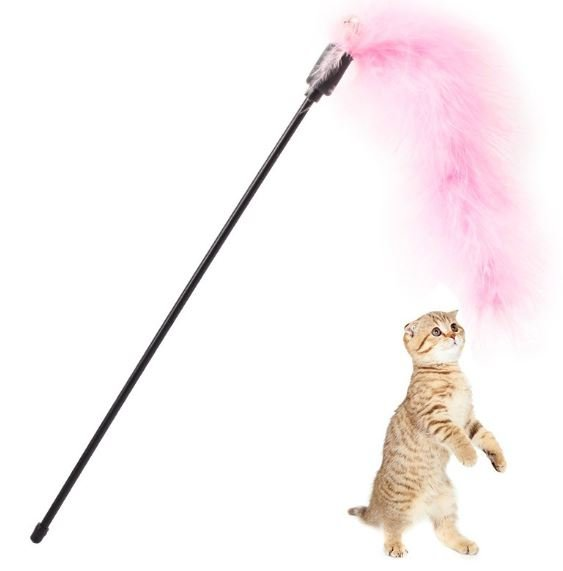 Pink Feather and Bell – Cat Wands &#038...