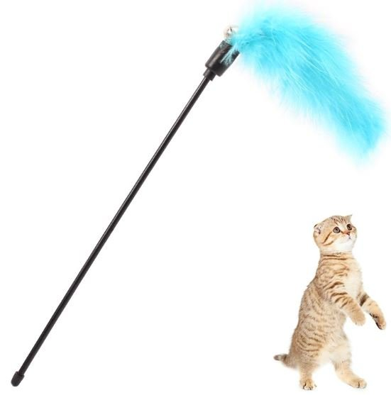 Blue Feather and Bell – Cat Wands &#038...