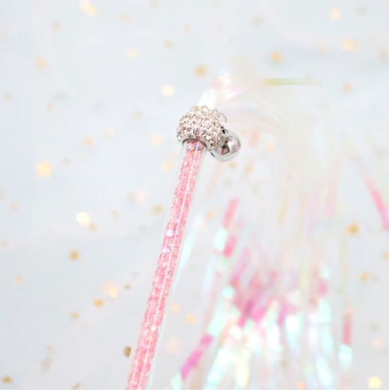 Cat Wands & Teasers – Glitter Sparkle Tassels, Pink