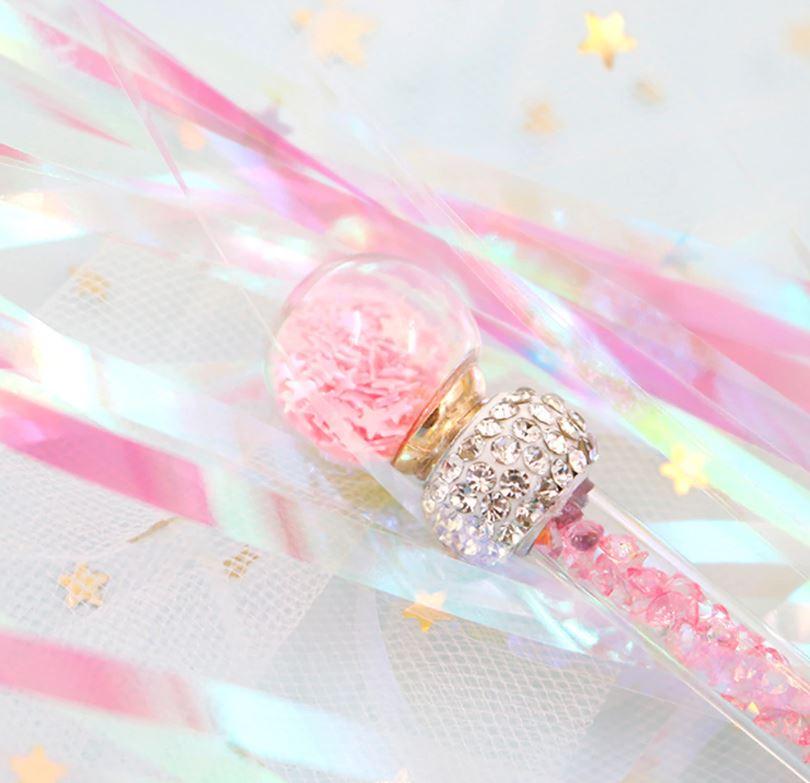 Cat Wands & Teasers – Glitter Sparkle Tassels, Pink.