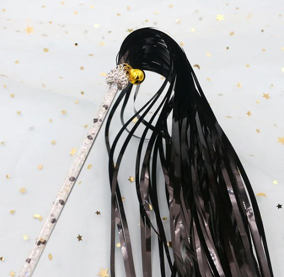 Black Glitter Sparkle Tassels – Cat Wands & Teasers