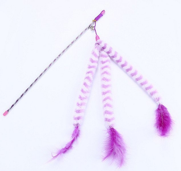 Purple Stripe with Bell and Feather – W...