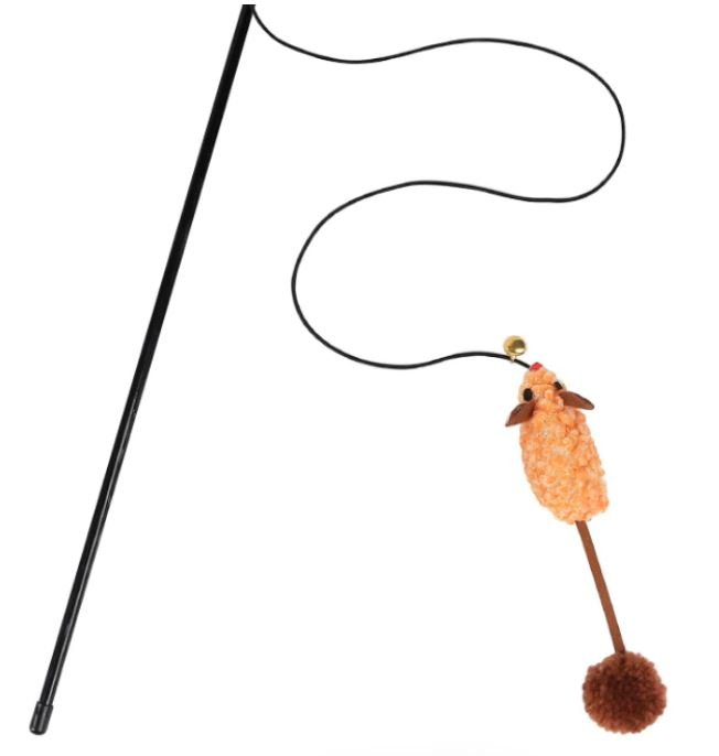 Orange Mouse with Long Tail – Wands & Teasers