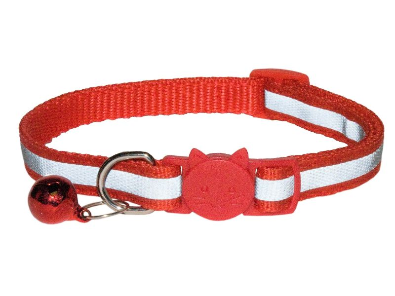 Reflective Cat Collar, Red (Single Pack)