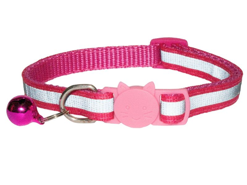 Reflective Cat Collar, Rose (Single Pack)