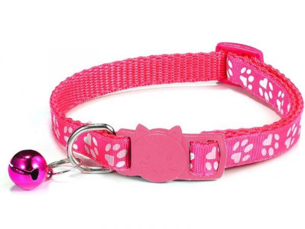Paw Print Cat Collar – Rose