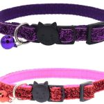 Glitter Cat Collar, Purple/Pink (Pack of 2)