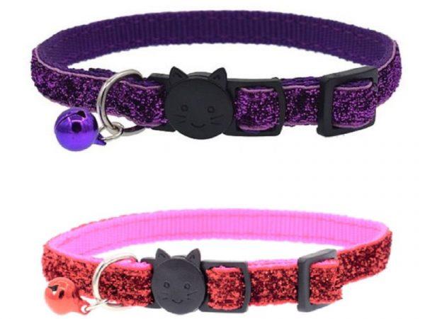 Glitter Cat Collar, Pink and Purple