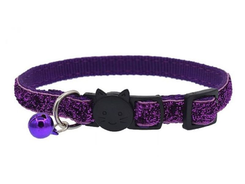 Glitter Cat Collar, Purple (Single Pack)