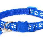 Paw Print Cat Collar, Blue (Single Pack)