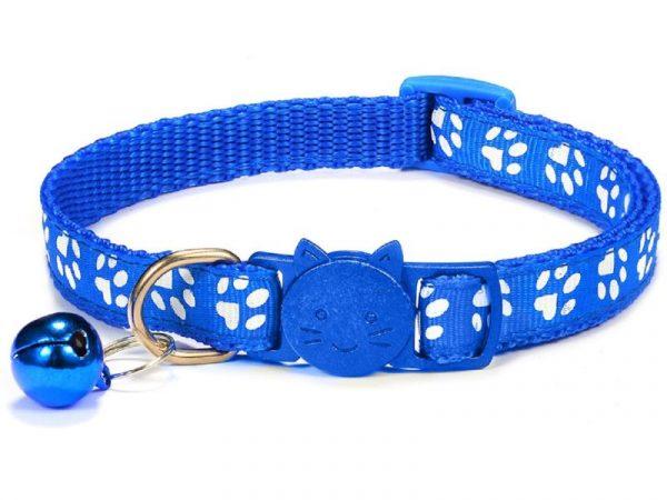 Paw Print Cat Collar – Blue