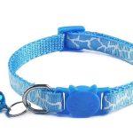 Leopard Print Cat Collar – Blue (Single Pack)