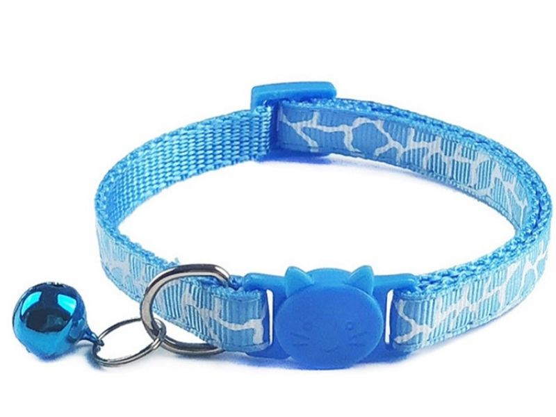 Leopard Print Cat Collar – Blue (S...