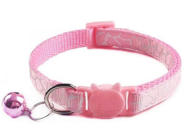 Leopard Print Cat Collar – Pink