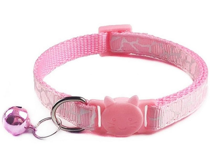 Leopard Print Cat Collar – Pink (Single Pack)