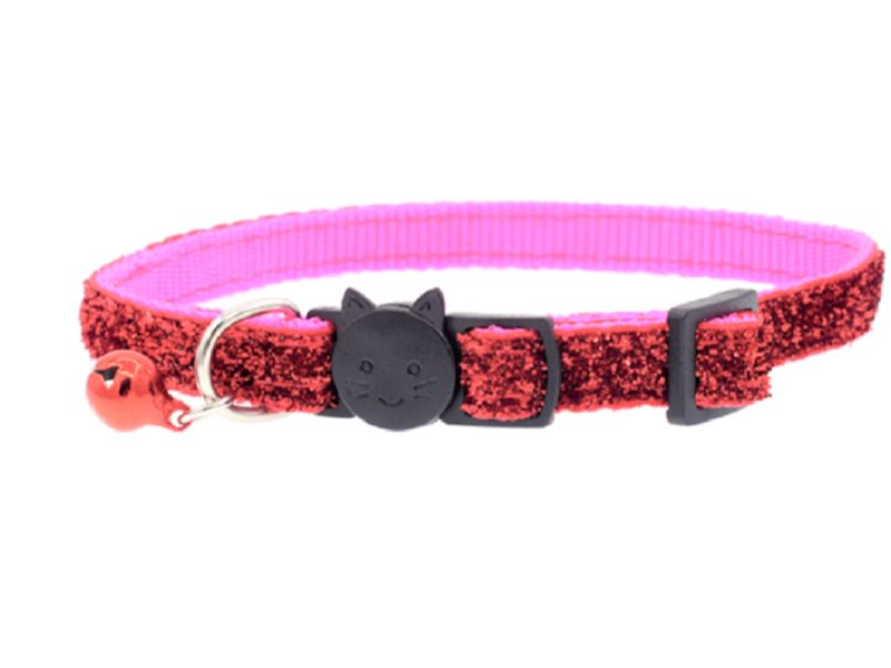 Glitter Cat Collar, Pink (Single Pack)